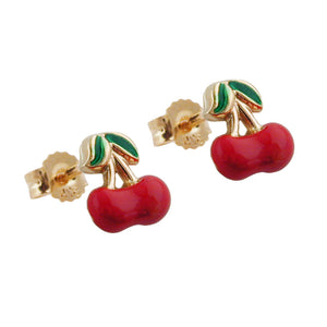 earrings cherrys 9k gold