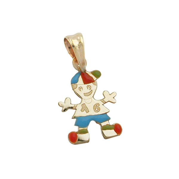 pendant little boy multicoloured 9k gold
