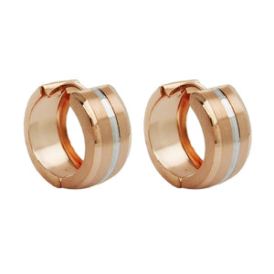 earring hoop bicolor 9k red-gold