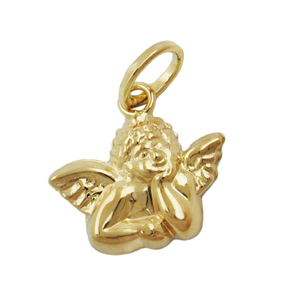 pendant small angel 9k gold