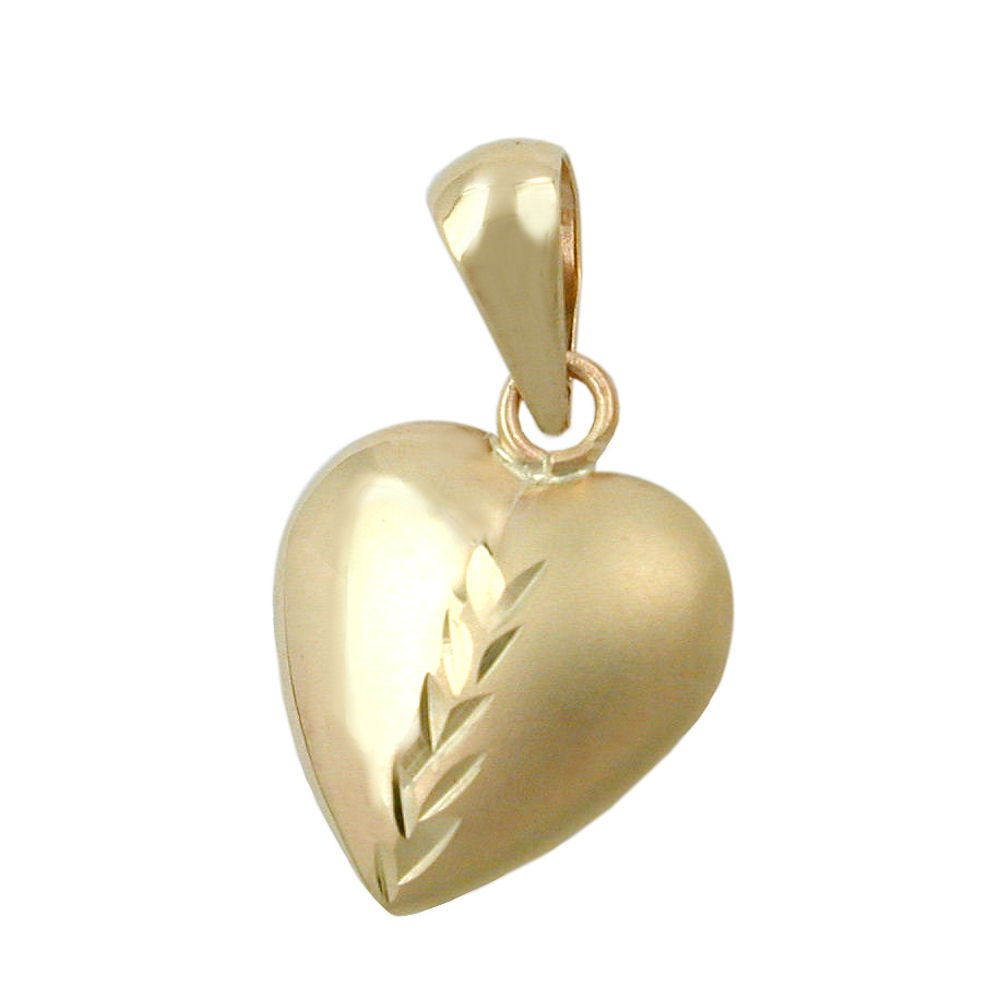 pendant heart 9k gold