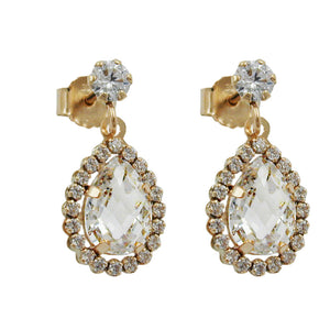 earrings with zirconias 9k gold