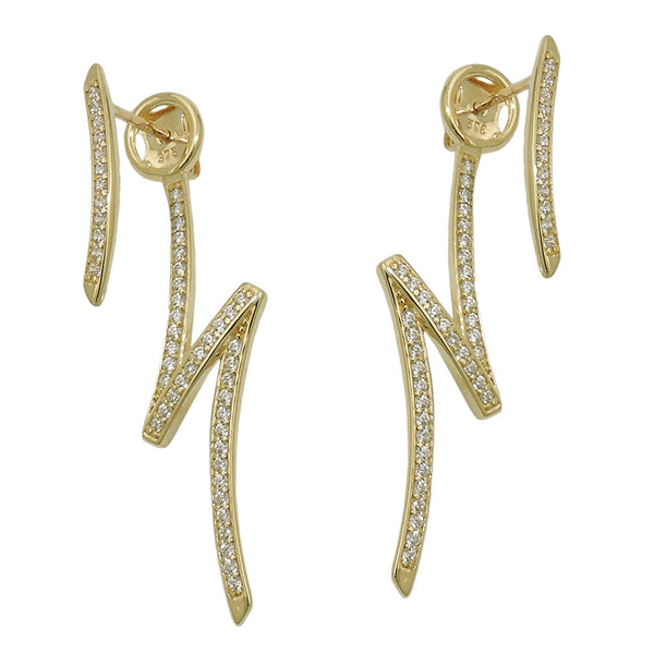 stud earrings zirconias 9k gold