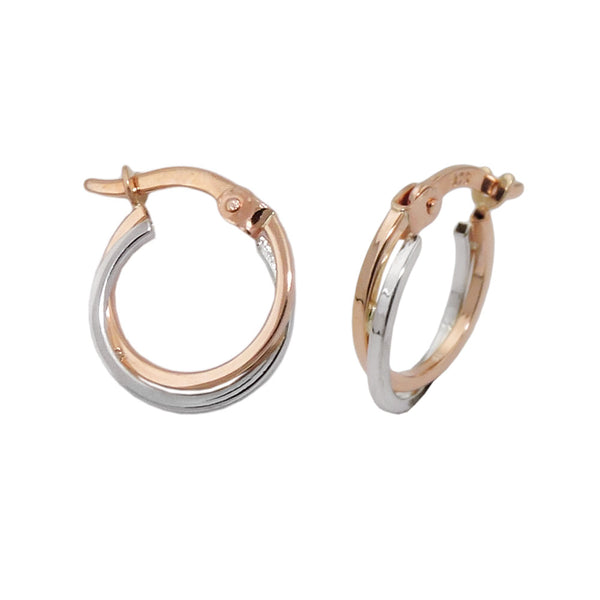 hoop earrings two tone 9k redgold