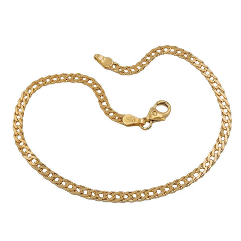 bracelet 19cm twin curb chain 14k gold