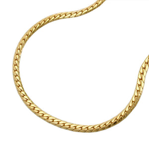 Flat Curb Chain 9ct Gold
