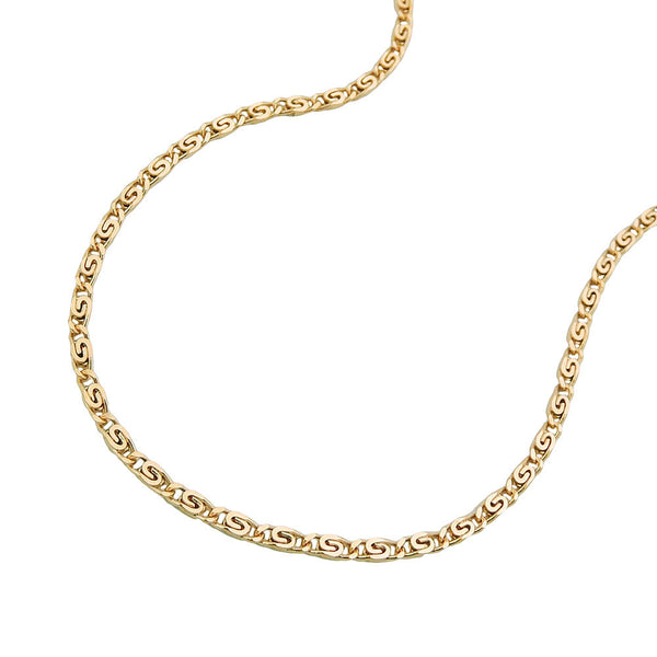 S-Curb Chain 14ct gold