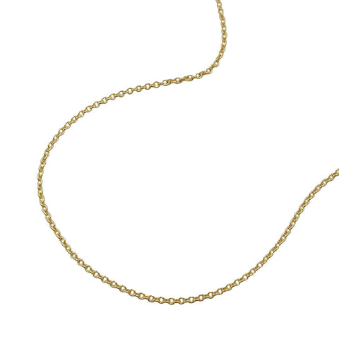 Thin Anchor Chain 9ct gold