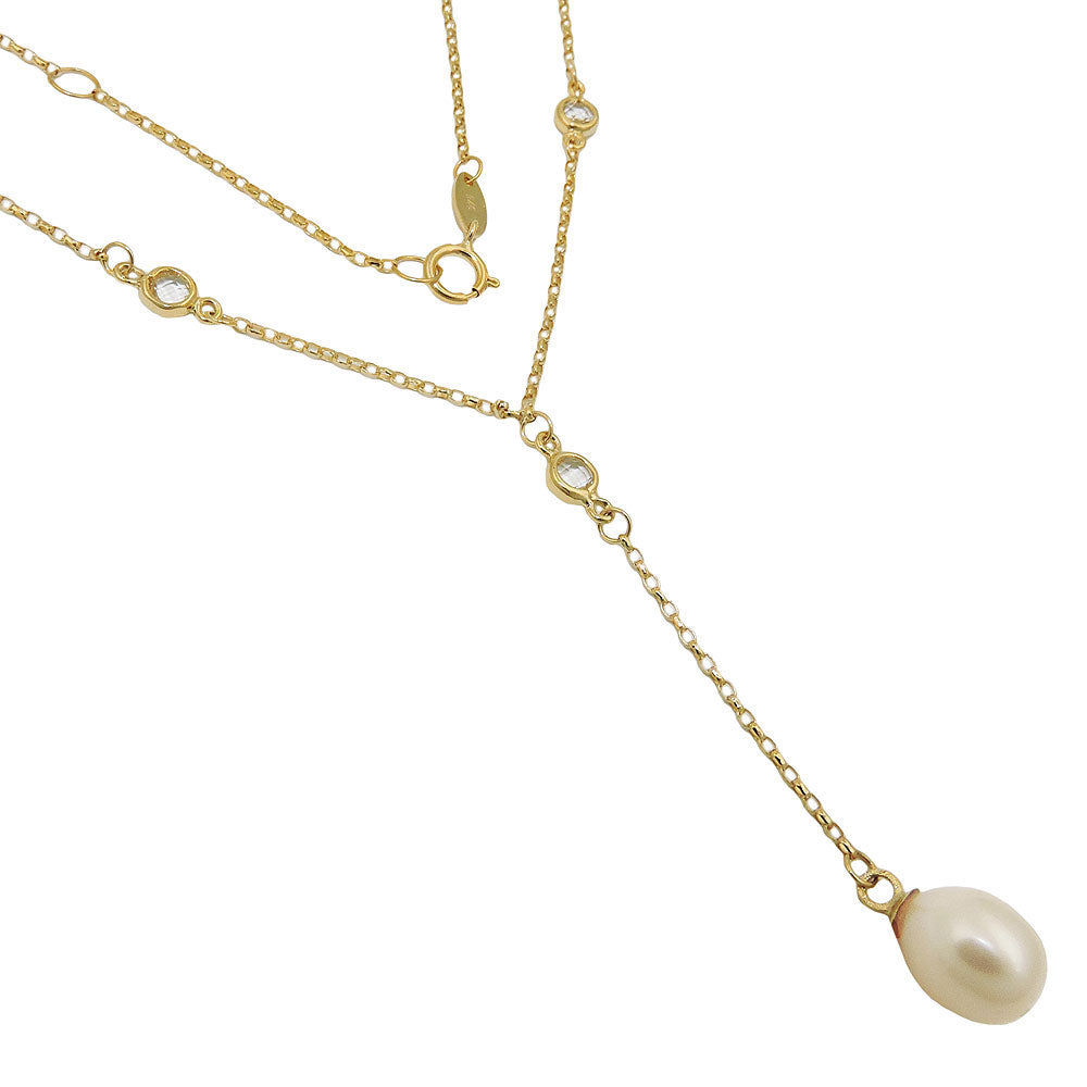 necklace chain 45cm pearl 9k gold