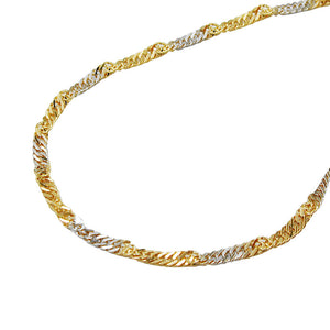 bracelet singapore 19cm chain 14k gold
