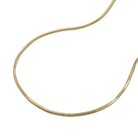 Snake Chain 5-Edged 14ct gold