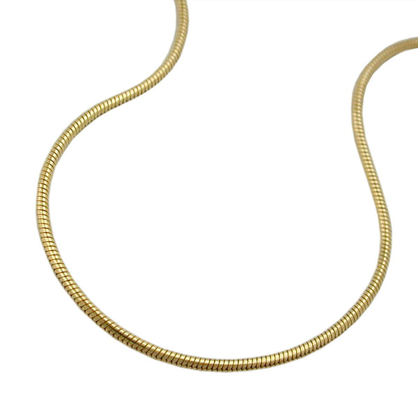 snake chain round 1mm 9k gold