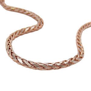 bracelet wheat chain 19cm 14k redgold