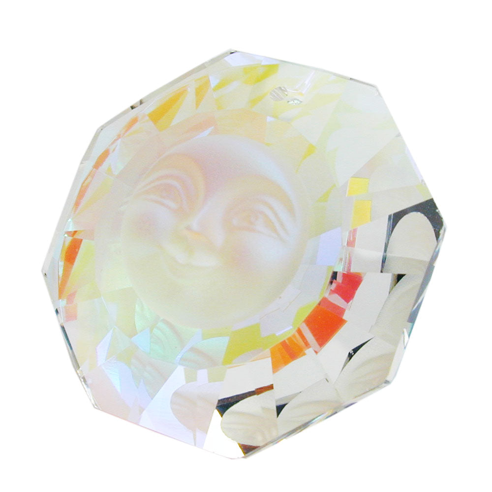 window decoration face frosted glass with aurora borealis shimmering effect
