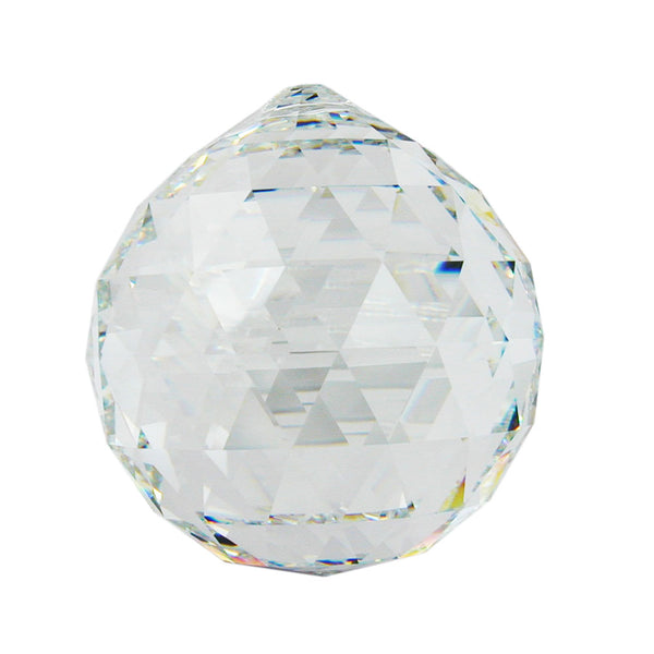 pendant ball clear crystal