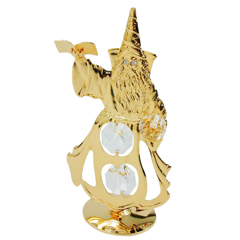 wizard with crystal elements gold plated