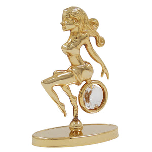 zodiac sign virgo with crystal elements gold plated