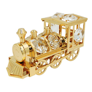 locomotive with crystal elements