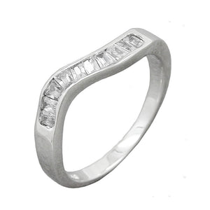 Ring with 10x Zirconias Silver 925