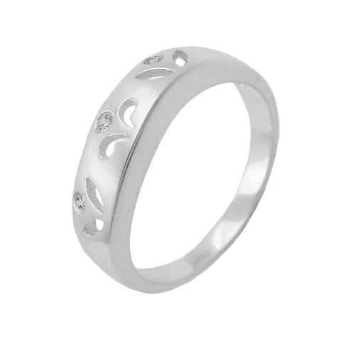Ring with 3 Zirconia Crystals Silver 925