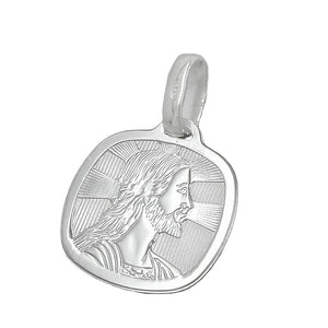 religious medal jesus silver 925