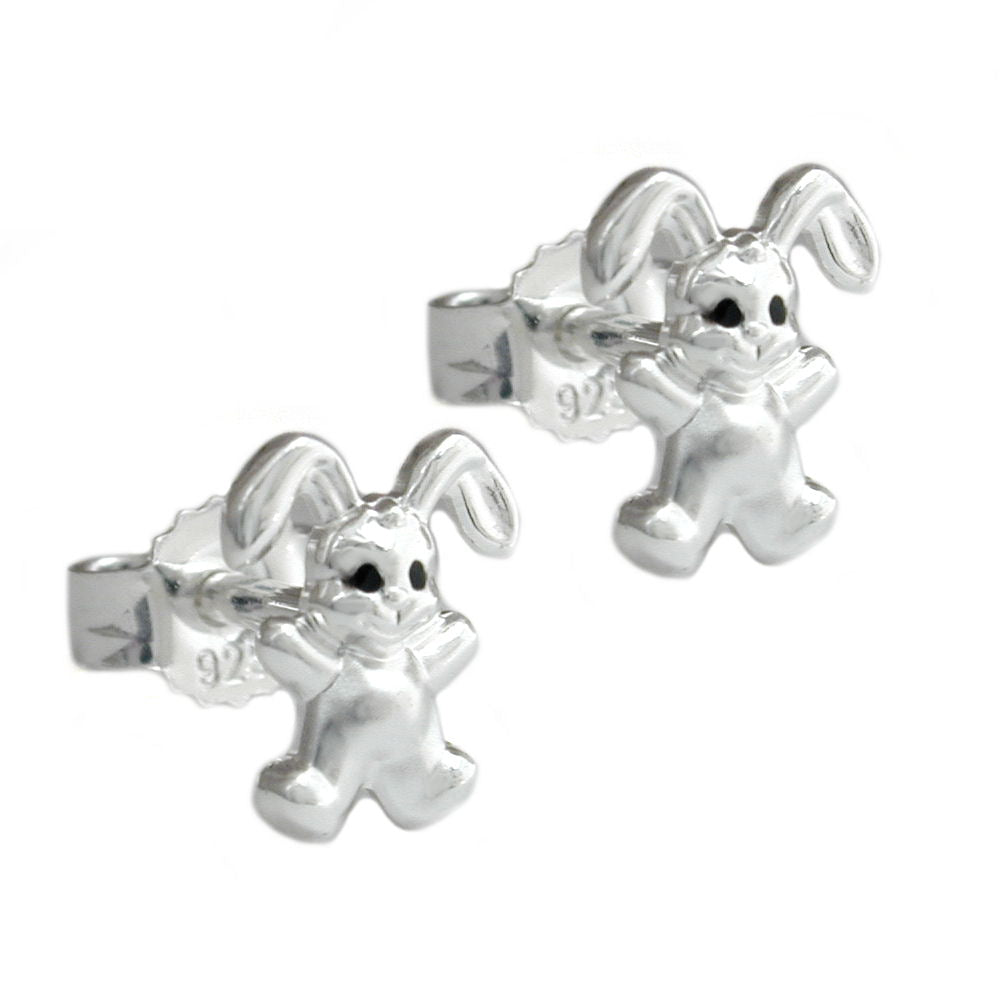 earrings 7mm small hare silver 925