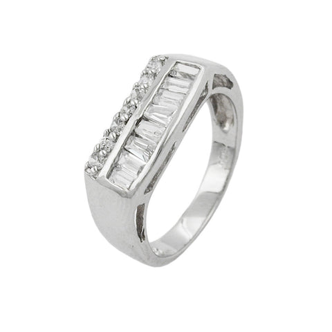 Ring with Zirconia Crystals Silver 925