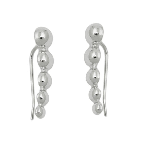 ear cuffs earrings balls silver 925