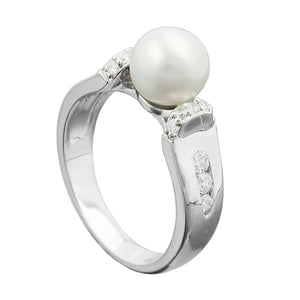 Ring with Pearl And Zirconias Silver 925