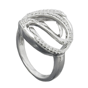 Ring with many Zirconias Silver 925
