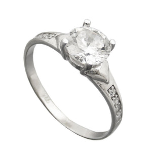 Ring with Zirconia 6mm Silver 925