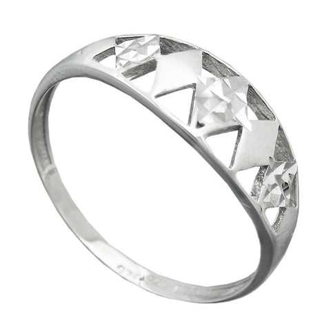 Ring with Diamond Cut Silver 925