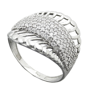 Ring with many Zirconia Silver 925