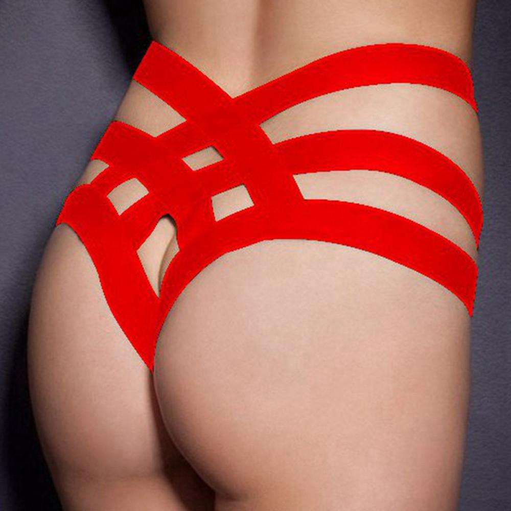 61d0c8266 Women Bandage Open Crotch Crotchless Panties Thong V-string Lingerie U