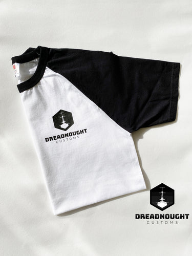 Dreadnought Logo T-Shirt White/ black sleeves