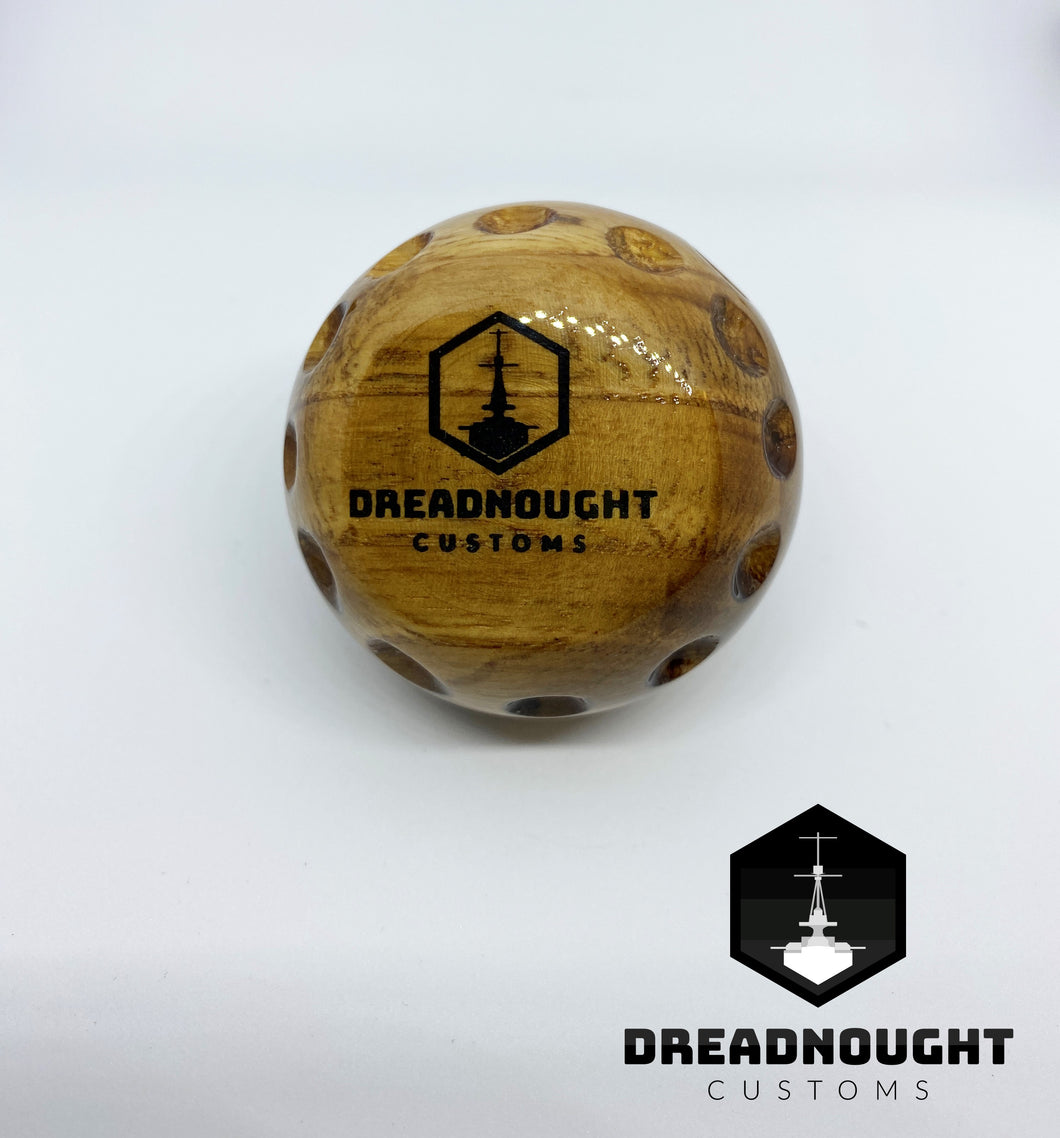 Golf ball wooden knob #1