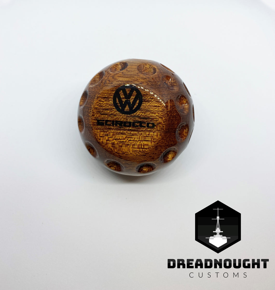 Golf ball wooden knob #2