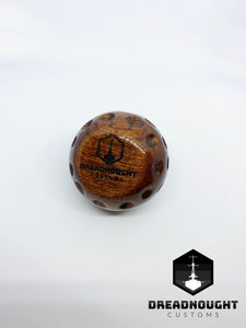 Golf ball wooden knob #4