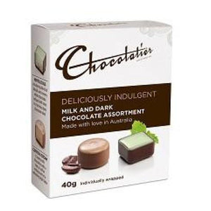 Deliciously Indulgent Milk & Dark Chocolates by Chocolatier Australia 40g