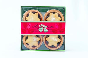 Four pack Fruit Mince Pies 220 grams by Puddings on the Ritz