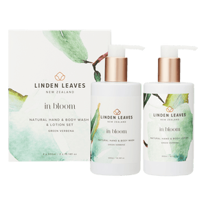 Green Verbena Hand and Body Wash & Lotion Boxed Set by Linden Leaves