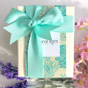 Natural Light Company Candle Japanese Chrysanthemum in Aqua and White