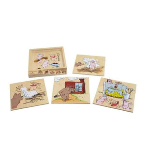 Three Little Pigs Puzzle Set by Discoveroo