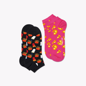 Pizza and Burgers Low Socks 2 Pack by Happy Socks