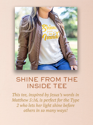 Shine From the Inside tee | Christmas gifts for Enneagram Type 2