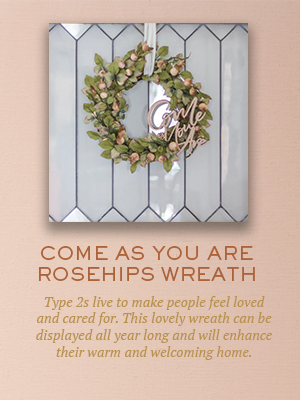 Come As You Are Wreath | Christmas gifts for Enneagram type 2