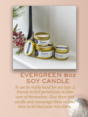 Evergreen Soy Candle | Christmas gifts for Enneagram Type 2