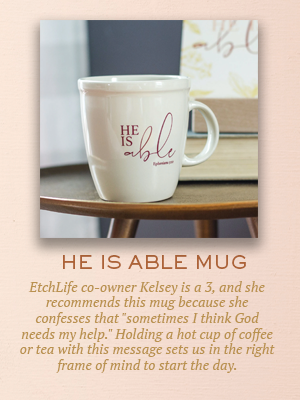 He Is Able mug | Christmas gifts for Enneagram Type 3