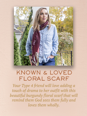 Known and Loved Floral Scarf | Christmas gifts for Enneagram Type 4