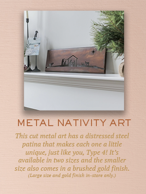 Metal Nativity Art | Christmas Gifts for Enneagram Type 2